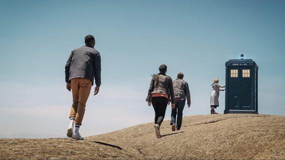 Walking up to the TARDIS